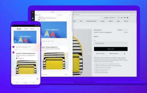 Opera Touch en desktop browser.