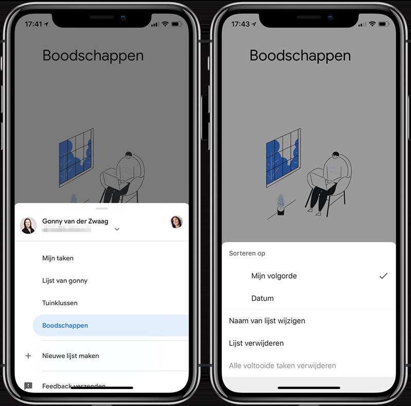 Google Tasks-app: lijsten maken
