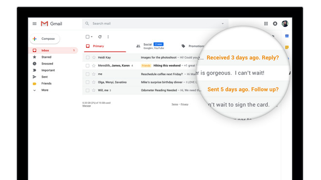 Gmail oude email beantwoorden