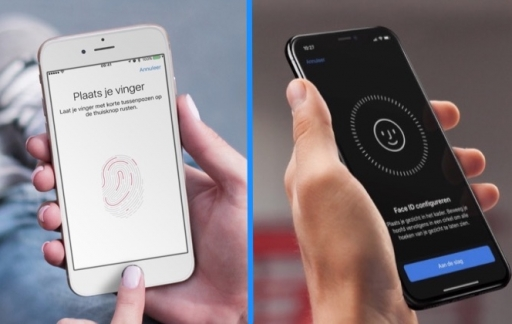 Touch ID vs Face ID.