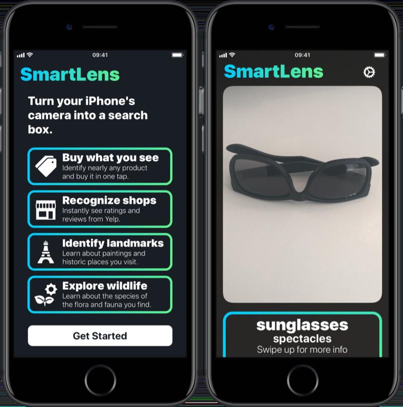 SmartLens herkent objecten.