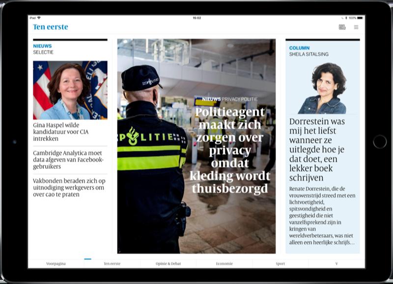 Volkskrant Editie op iPad.
