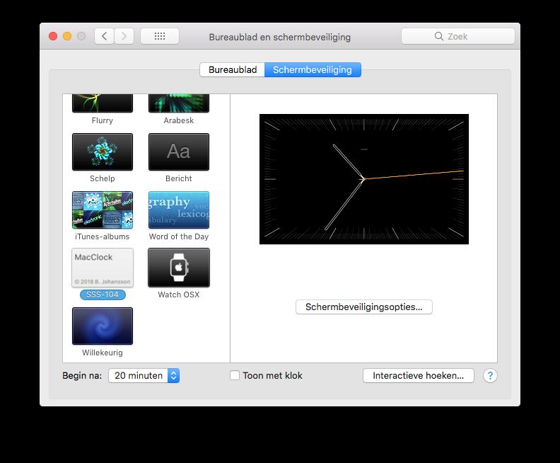 MacClock screensavers.