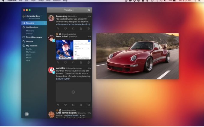 Tweetbot 3 voor Mac screenshot