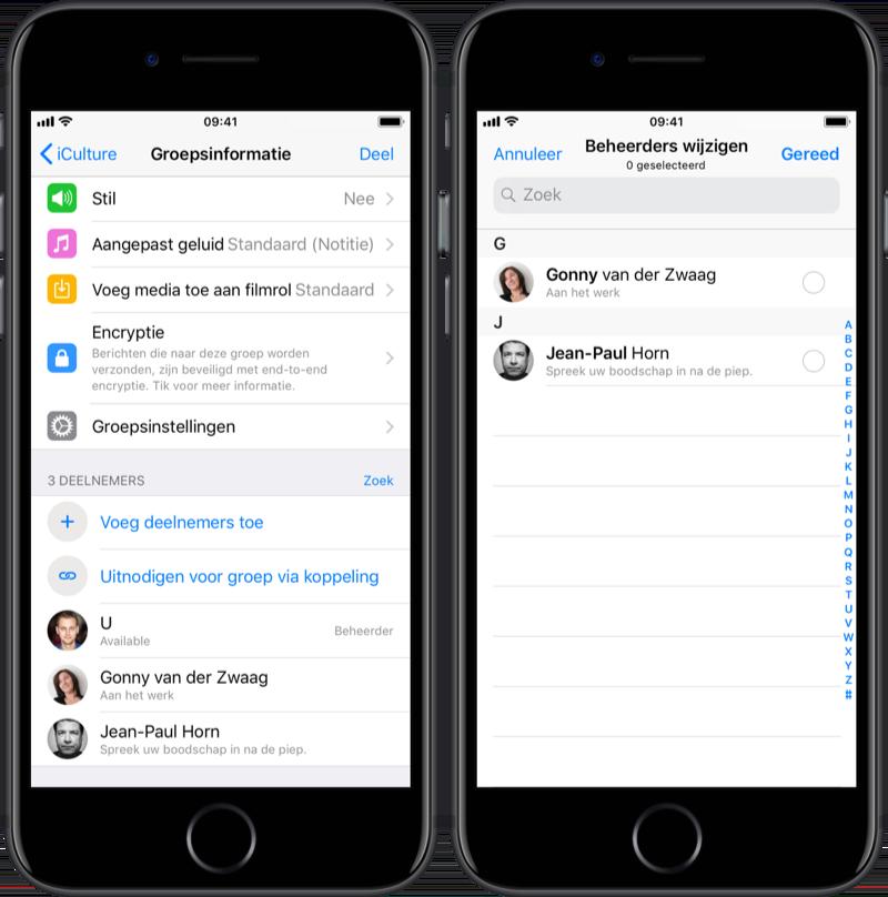WhatsApp groep beheerders wijzigen.