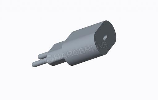 Renders van iPhone-lader met USB-C.