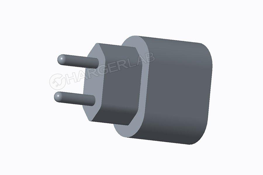 Renders van iPhone-lader met 18 Watt.