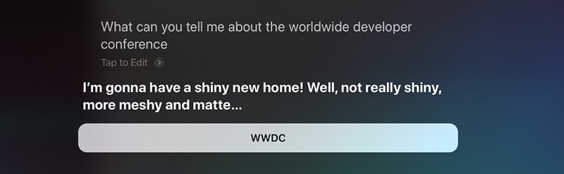 Siri new home