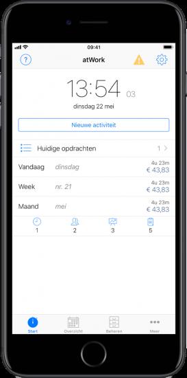 Tijd bijhouden met apps  atWork