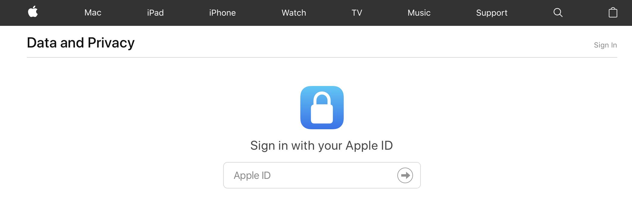 Apple-data opvragen: inloggen