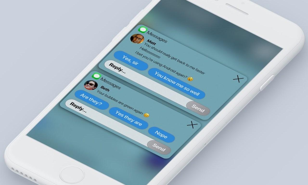 iOS 12 concept gegroepeerde meldingen