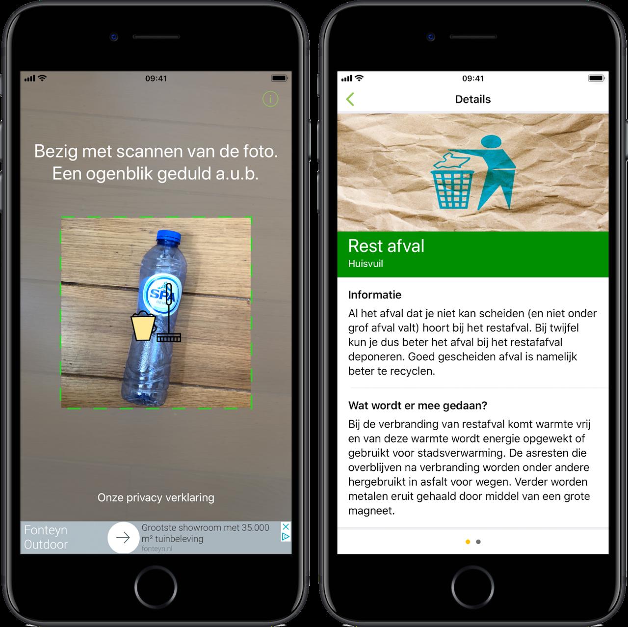 EcoScan helpt je bij het scheiden van afval