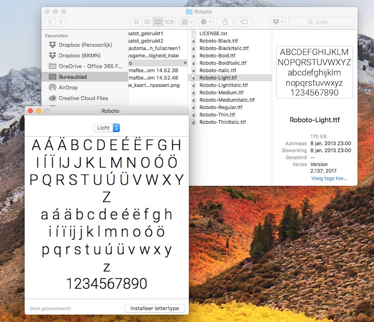 Lettertypes toevoegen op de Mac
