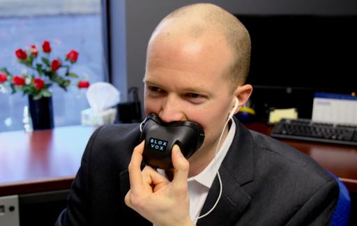 Bloxvox: mondkapje dat je telefoongesprekken privé houdt