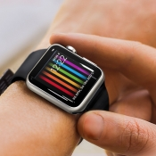 Apple Watch Pride-wijzerplaat mockup door ICulture
