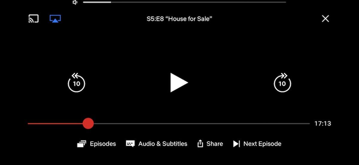Netflix-knoppen test op iOS