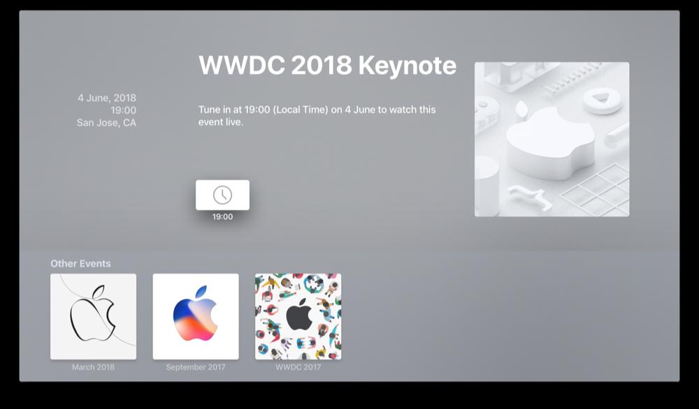 WWDC 2018 Event-app.