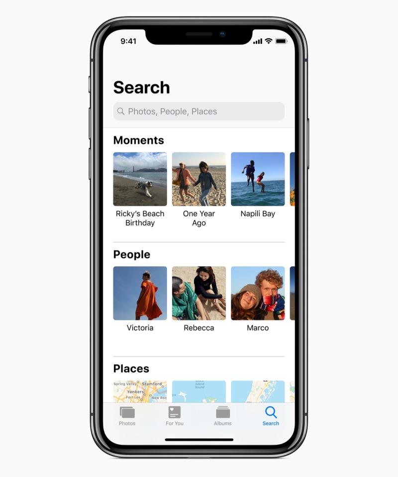 iOS 12 Foto's zoeken