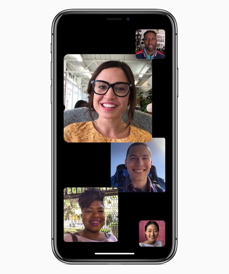 iOS 12 FaceTime met groepen