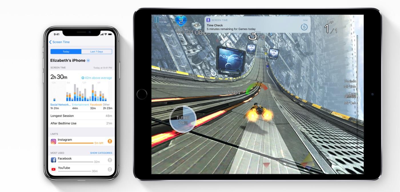 Melding van Screentime in iOS 12.