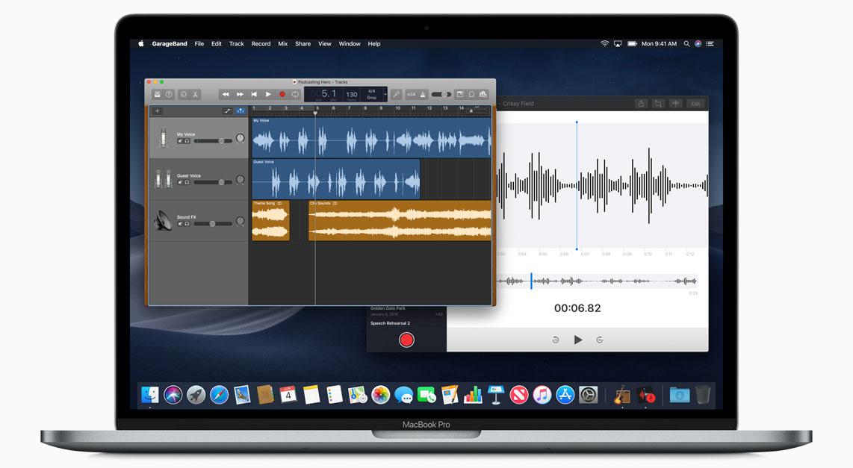 macOS Mojave dictafoon-app