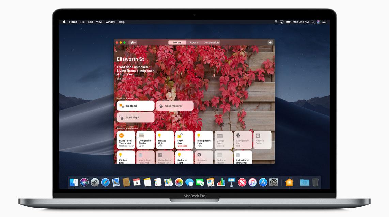macOS Mojave Woning-app voor HomeKit