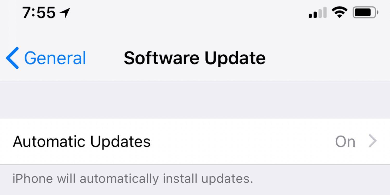 Automatische updates iOS 12