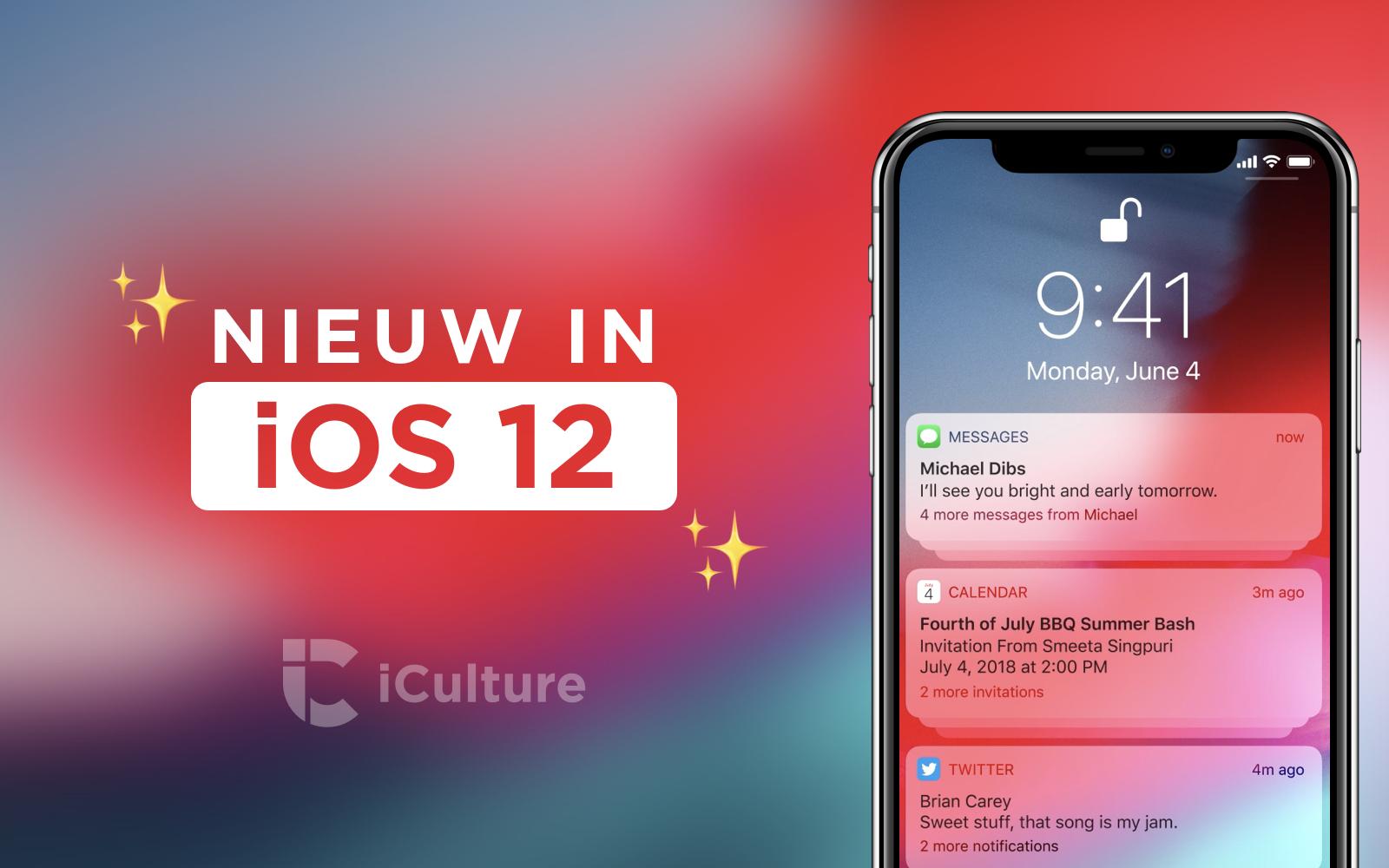 Nieuw in iOS 12
