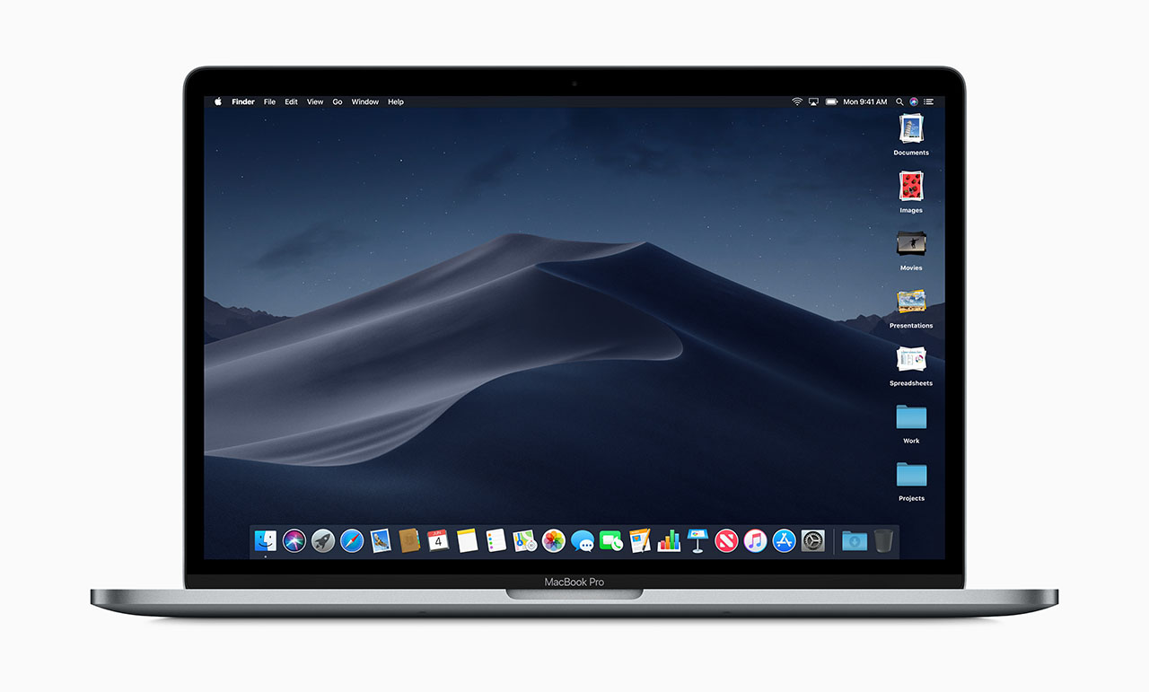 macOS Mojave op MacBook