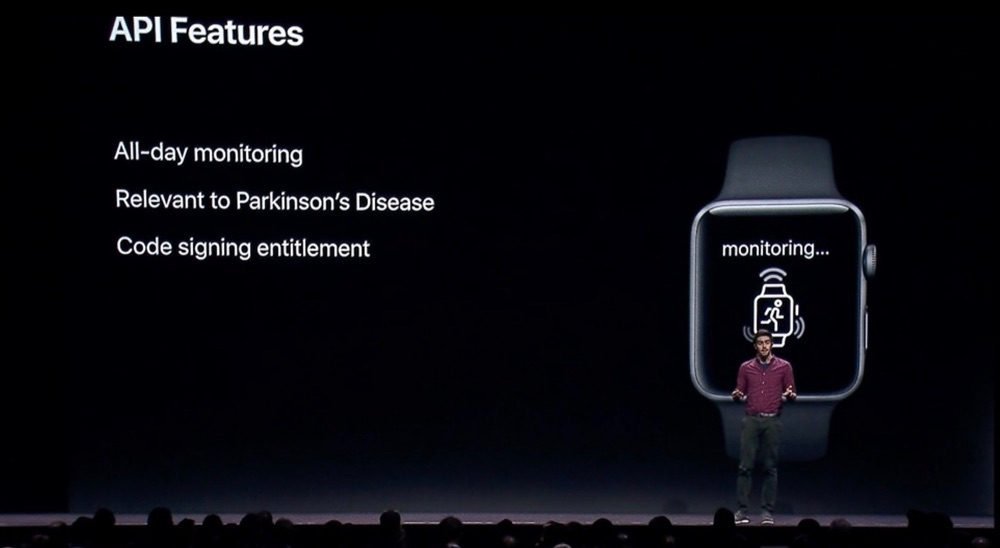 ResearchKit Parkinson API.