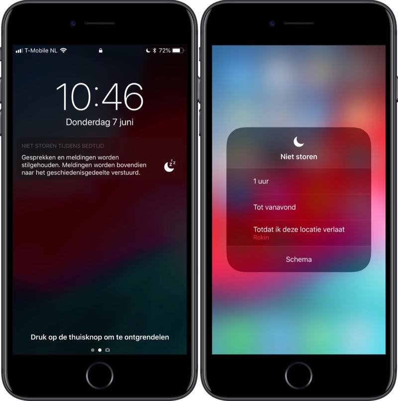 Niet Storen in iOS 12.
