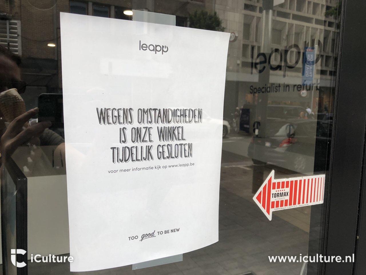 Leapp winkel gesloten