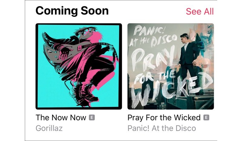 Coming Soon in Apple Music