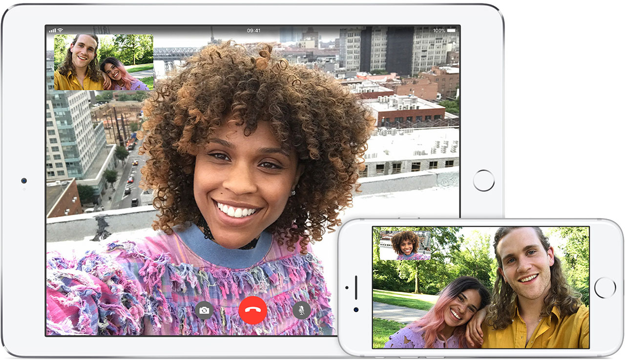 FaceTime op iPhone en IPad
