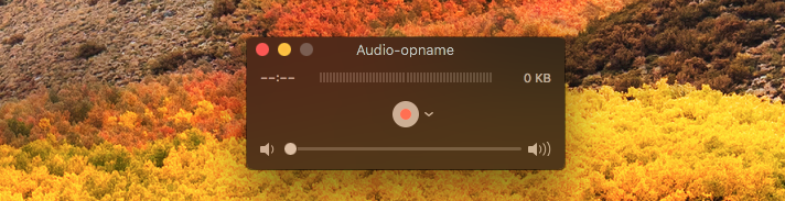 Quicktime audio-opname