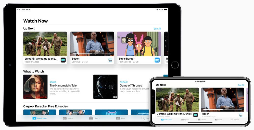 TV-app met meer zenders in tvOS 12