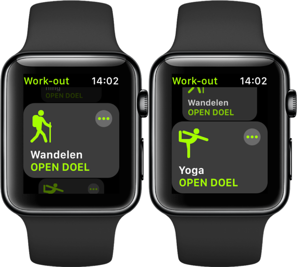 Nieuwe workouts in watchOS 5.