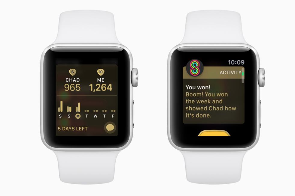 Wedstrijd in Apple Watch Activiteit.