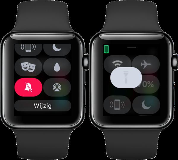 Bedieningspaneel op de Apple Watch aanpassen.