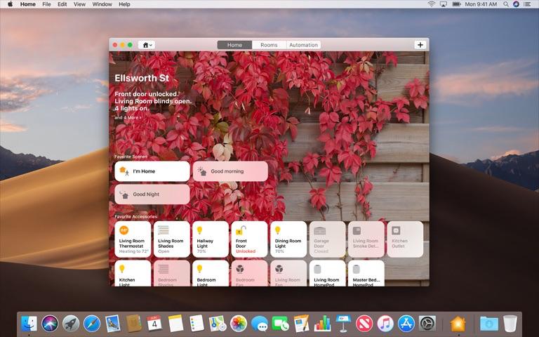 Woning-app op de Mac.