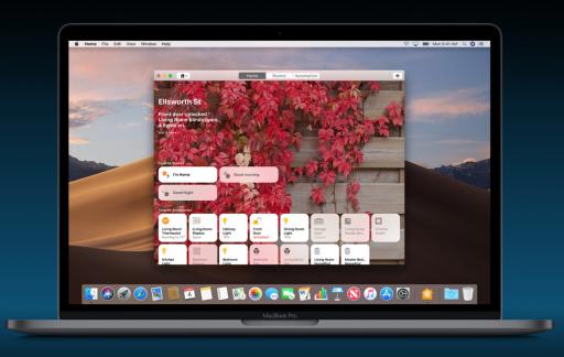 Woning-app voor HomeKit op een MacBook.