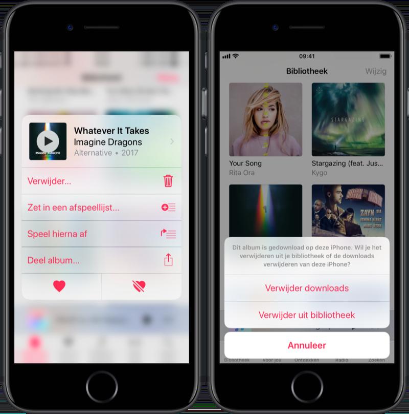 Muziek verwijderen van je iPhone.