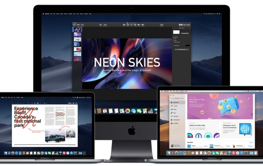 macos Mojave op iMac en MacBook