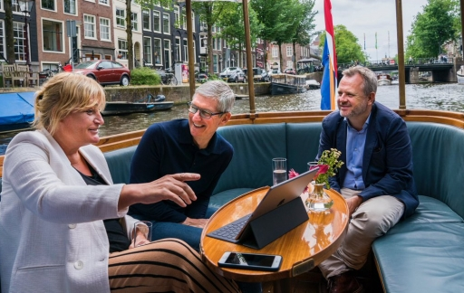 Tim Cook in Amsterdam 2018