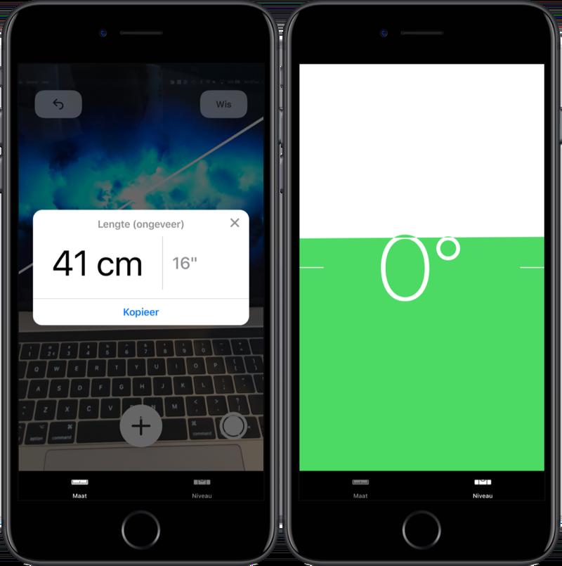 Mogelijkheden van Measure-app.