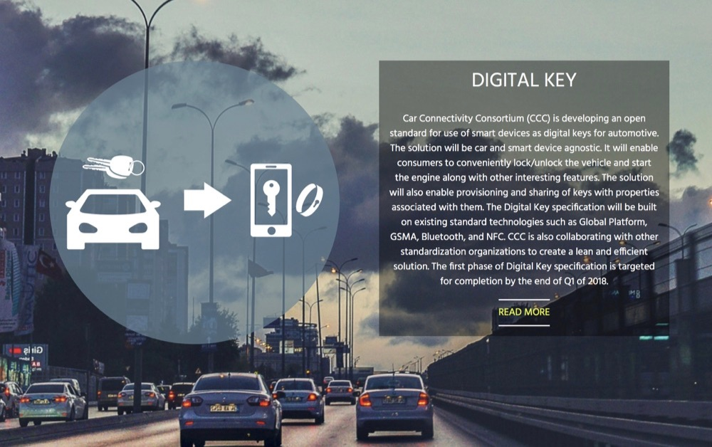 Digital Key van Car Connectivity Consortium.