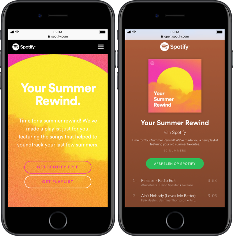 Spotify Your Summer Rewind 2018.