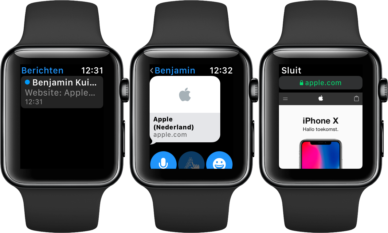 Apple Watch internet: websites bekijken