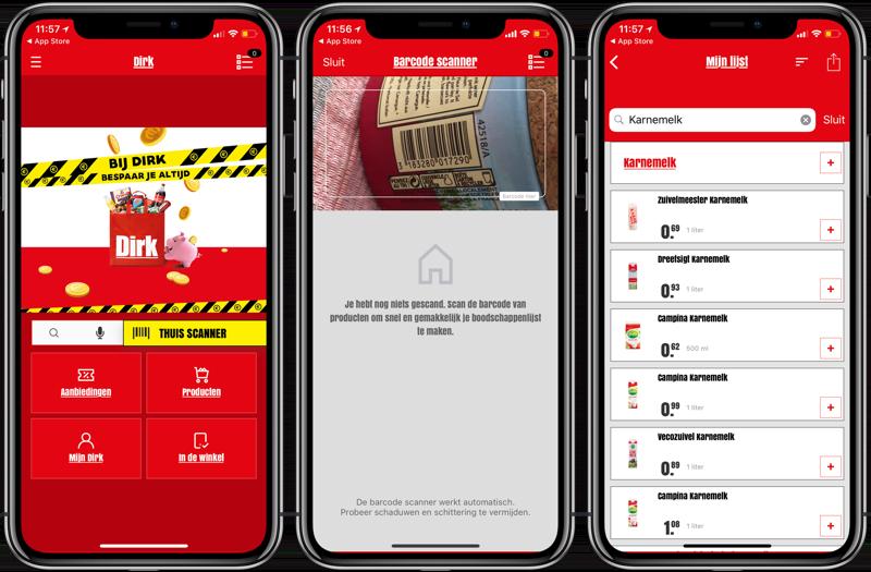 Dirk-app voor iPhone