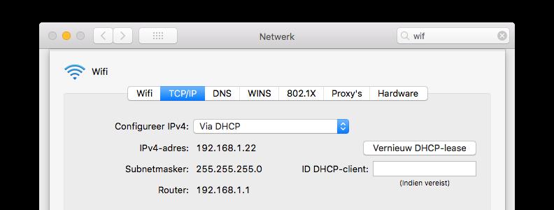 IP-adres router opzoeken